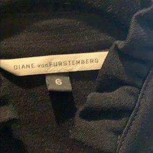 Diane Von Furstenberg classic black wrap dress.